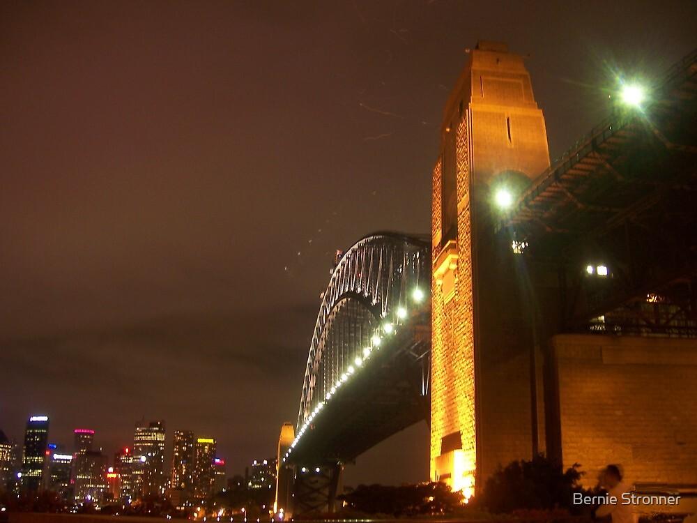 Sydney Harbour Bridge, at night  by Bernie Stronner