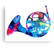 Colorful French Horn 2 - Cool Colors Abstract Art Sharon Cummings Metal Print