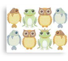 King Frog & Friends 7 Canvas Print