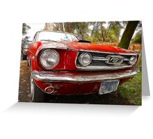 Dad's 1966 Mustang Fastback Greeting Card