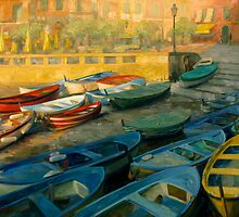 The Boats of Vernazza by Gabriel Lipper