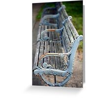 park bench in Providence Greeting Card