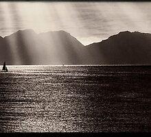 The Hazards, Coles Bay, Tasmania by Ron C. Moss
