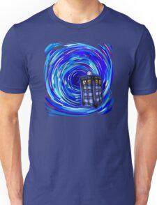 Blue Phone Box with Swirls Unisex T-Shirt