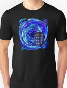 Blue Phone Box with Swirls T-Shirt