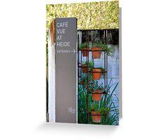 Heide Museum Café Detail Greeting Card