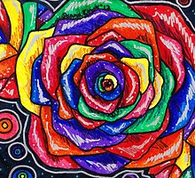 Rainbows and Roses Bold by ShanaRoweArt