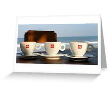Coffee 4 Three, Bali Indonesia Greeting Card