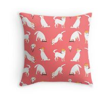 White labrador Throw Pillow