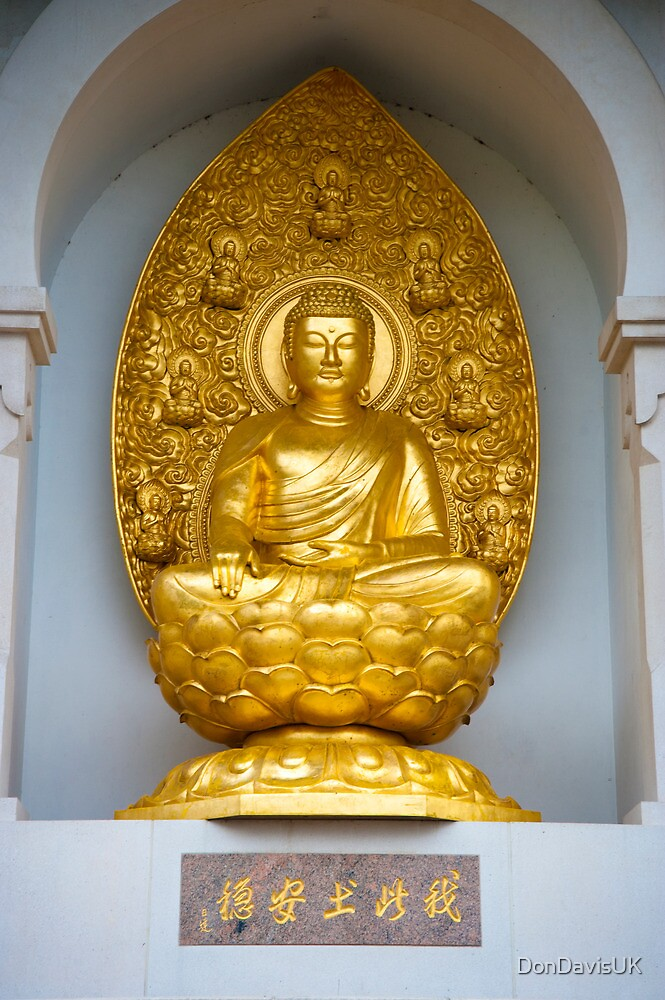 The Buddha on the Peace Pagoda: Battersea Park by DonDavisUK