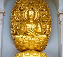 The Buddha on the Peace Pagoda: Battersea Park by DonDavisUK