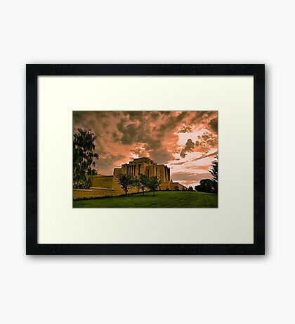 Cardston Alberta Temple Framed Print
