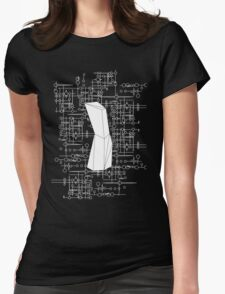 The Obelisk / The Diviner (White) Womens Fitted T-Shirt