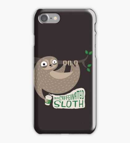 Caffeinated Sloth iPhone Case/Skin