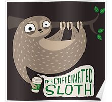Caffeinated Sloth Poster