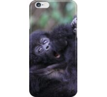 Baby Mountain Gorilla, Kwitonda Group, Rwanda, East Africa iPhone Case/Skin