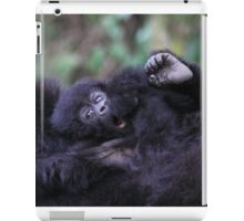 Baby Mountain Gorilla, Kwitonda Group, Rwanda, East Africa iPad Case/Skin