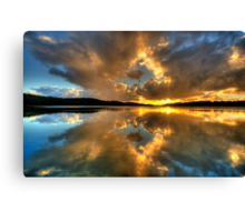 Through The Looking Glass - Narrabeen Lakes - The HDR Experience Canvas Print
