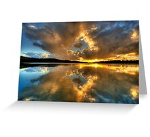 Through The Looking Glass - Narrabeen Lakes - The HDR Experience Greeting Card