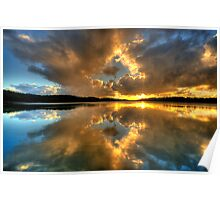 Through The Looking Glass - Narrabeen Lakes - The HDR Experience Poster
