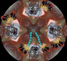 Wolf Dreamcatcher (4456) by Winona Sharp