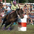 Around the barrel - Lang Lang Rodeo 2010 by James Millward