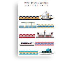 Walt Disney World Watercraft Poster Canvas Print