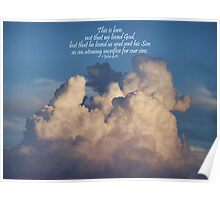 ~ 1 John 4:10 ~ Poster
