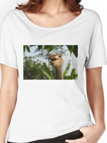 A Portrait Of An Opinionated Ostrich  Women's Relaxed Fit T-Shirt