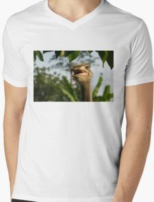 A Portrait Of An Opinionated Ostrich  Mens V-Neck T-Shirt