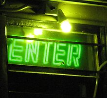 """Enter"" sign at Ralph's Diner by megan9mm"