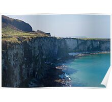 Sea Cliffs at Carrick-a-Rede Poster