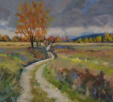 """""""Country Road - Farm Near Williamstown"""" by Edward Cating"""