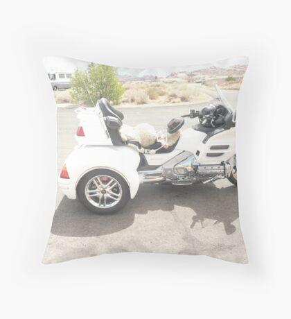 A Three Wheeler Motorbike. Throw Pillow
