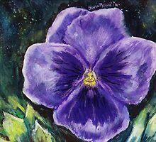 Pretty Purple Pansy Person by ShanaRoweArt
