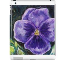 Pretty Purple Pansy Person iPad Case/Skin