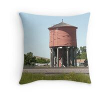 An Old Wooden Water Tower. Throw Pillow