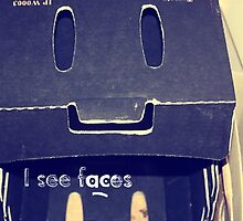 I see faces - Mr cardboard box by KristinStone