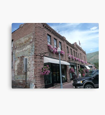 Aspen Streetscape. Canvas Print