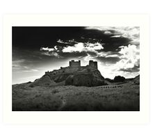 Bamburgh Castle in Northumberland, UK Art Print