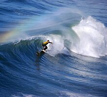 Surfing under a Rainbow by Catherine Sherman