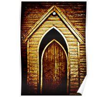 Church Door Texture Poster
