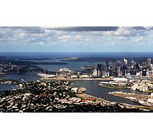 Perfect aerial approach to Sydney Photographic Print