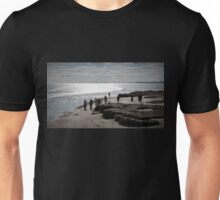 People, Dogs & Yachts enjoying a sunny Winters Day. Semaphore. Unisex T-Shirt