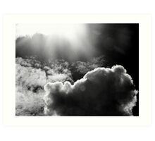 Land in the clouds Art Print