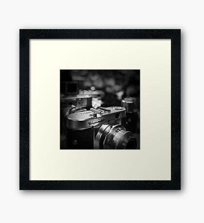 Aging Gracefully - Voigtlaender vintage camera Framed Print