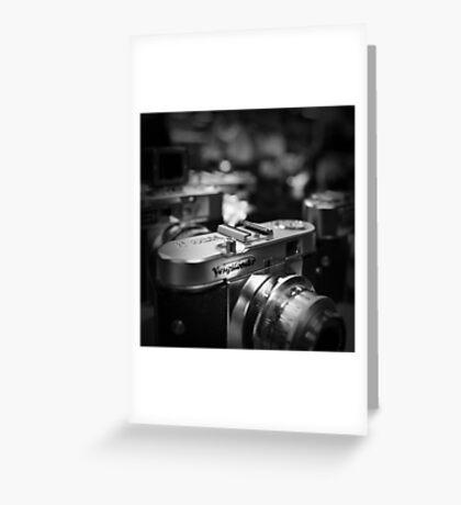 Aging Gracefully - Voigtlaender vintage camera Greeting Card