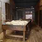 Historic wool table  (East Loddon woolshed) by Julie Sleeman