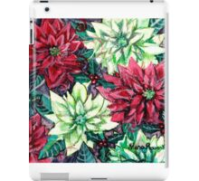 Christmas Flower Poinsettia Splendor iPad Case/Skin