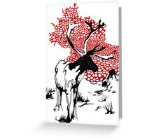 Reindeer drawing Greeting Card